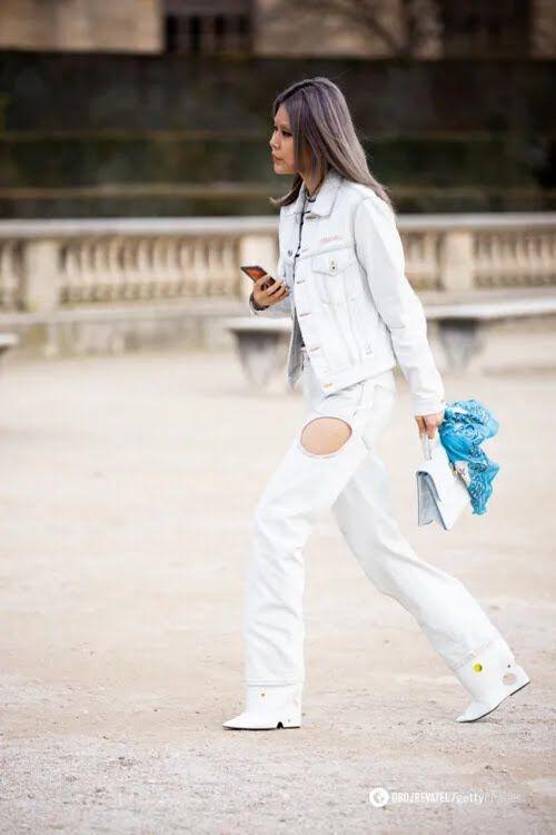 Джинси з вирізами: з чим носити.
