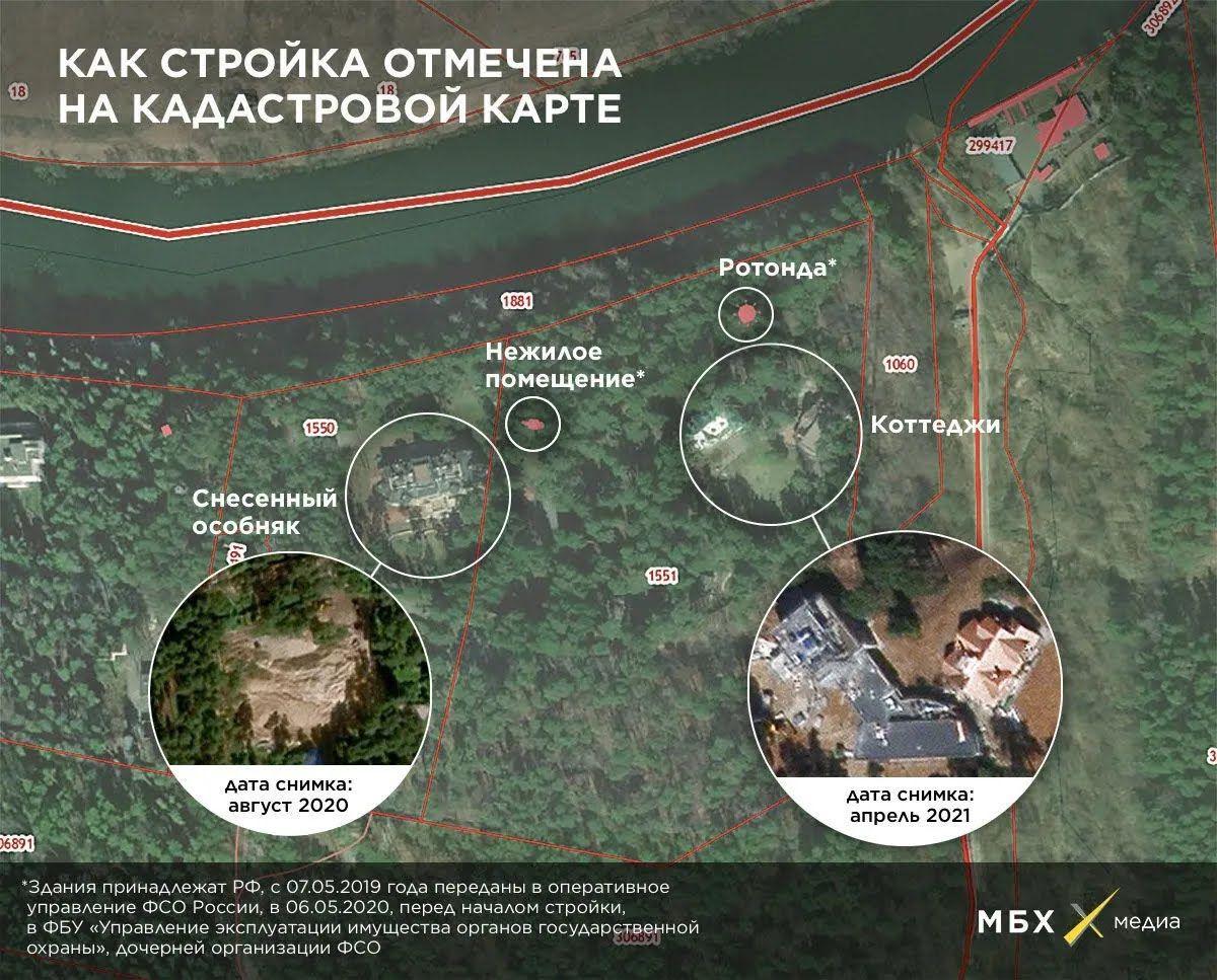 Карта с объектами строительства