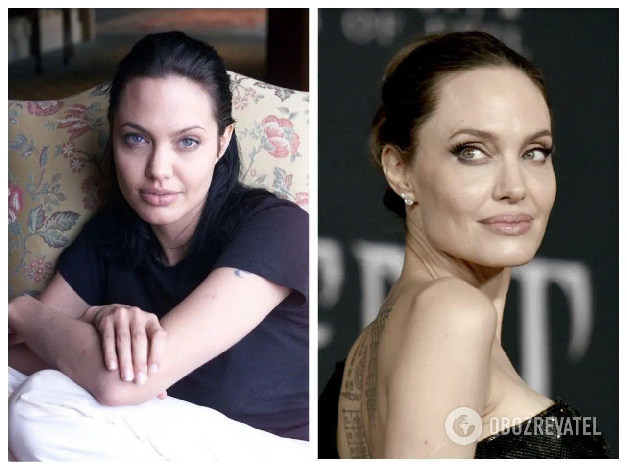 Зліва – 2000 рік, Анджеліні тоді було 25 років
