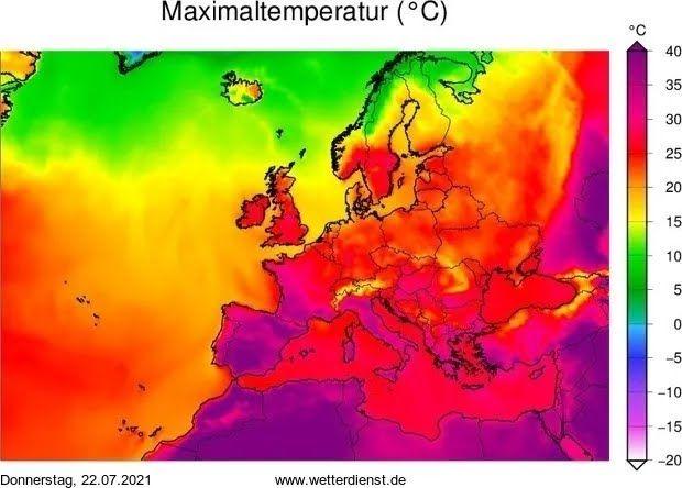 Карта температур