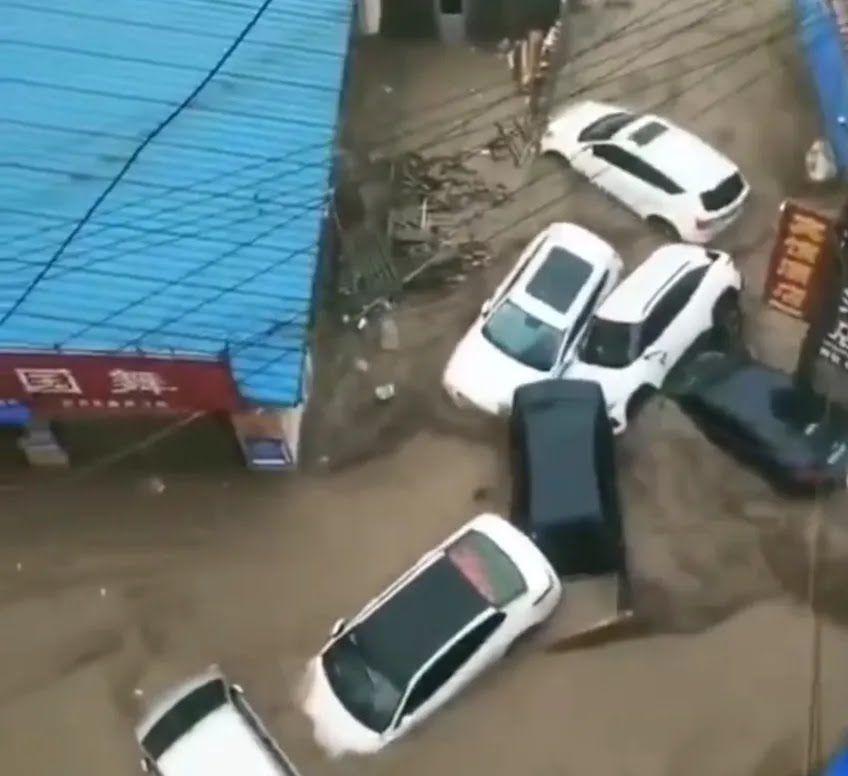 Потоп в китайской провинции Хэнань.