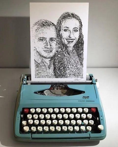 Рисунок, созданный на печатной машинке