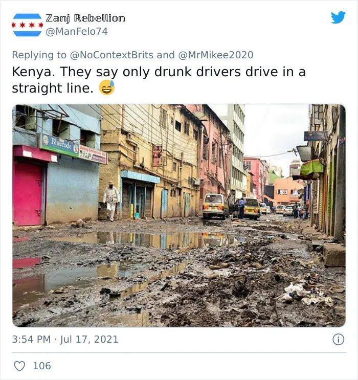 В Кении дороги напоминают свалку.