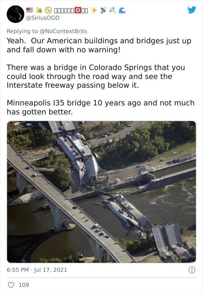 В городе Колорадо-Спрингс обрушился мост.