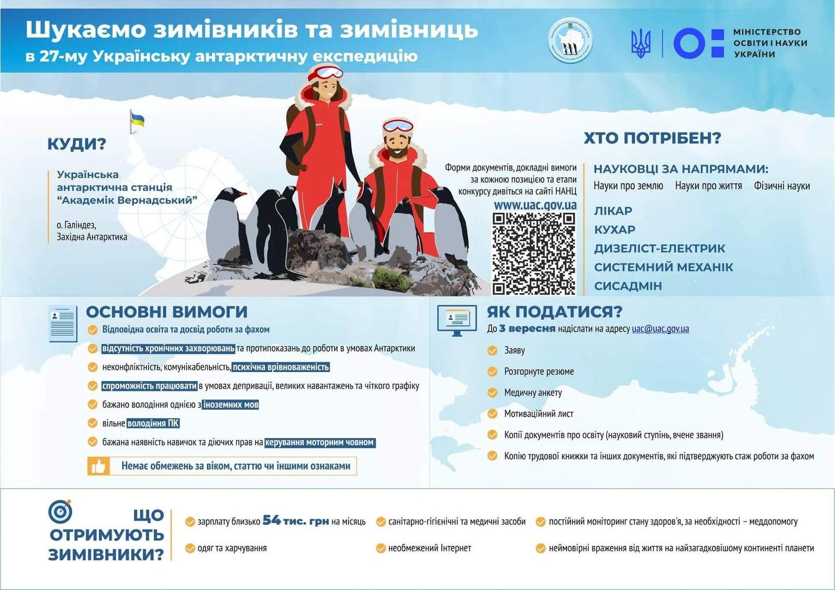 В Україні шукають полярників для антарктичної експедиції