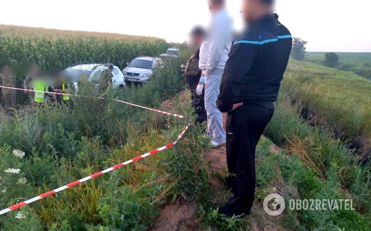 Місце інциденту поблизу кордону з Росією