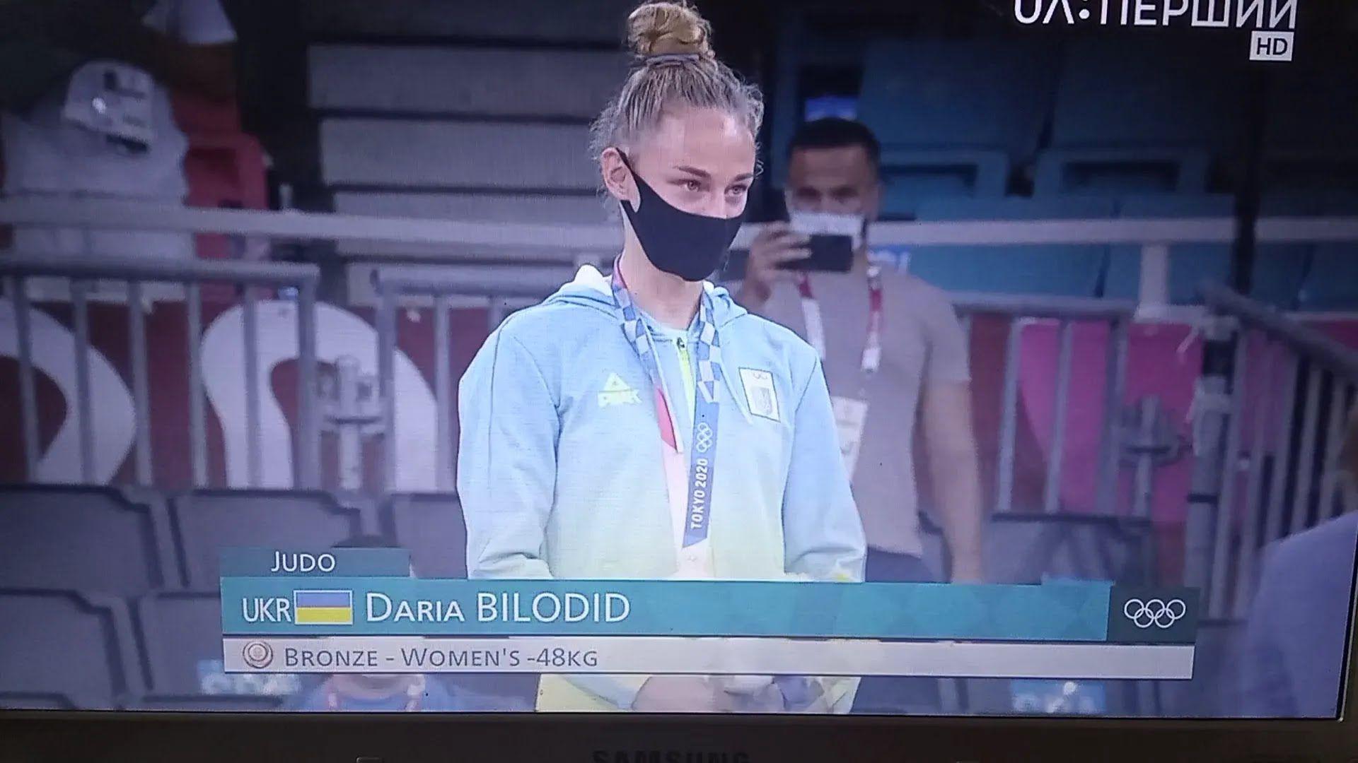 Дарина Білодід на церемонії нагородження