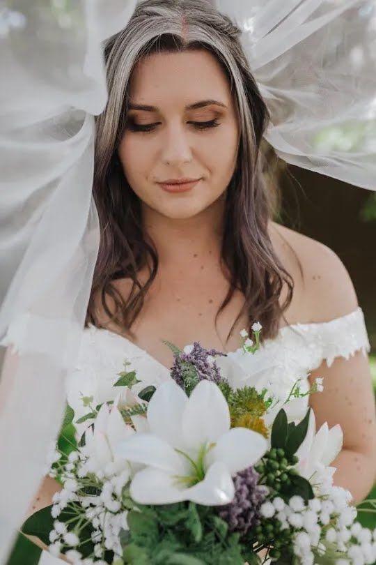 Софі Макграт у день весілля.
