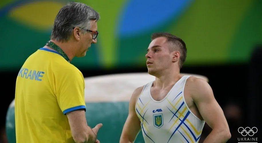 Олег Верняев с тренером Геннадием Сартинским