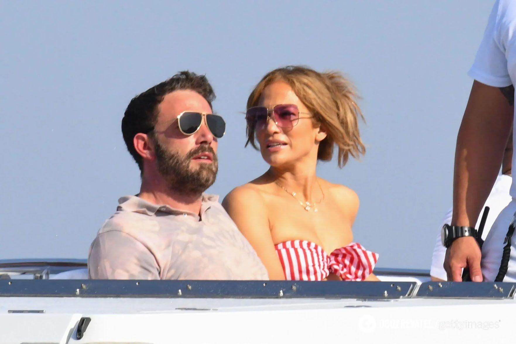 Аффлек і Лопес на яхті.