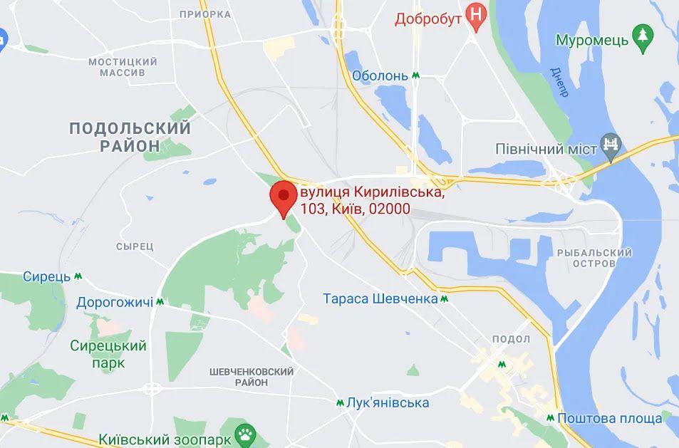 Взрыв произошел на улице Кирилловской.