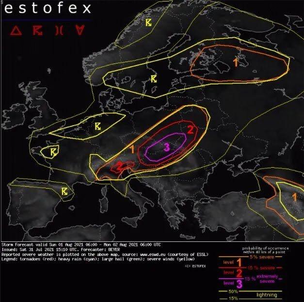 В Восточной Европе ожидается опасная ситуация