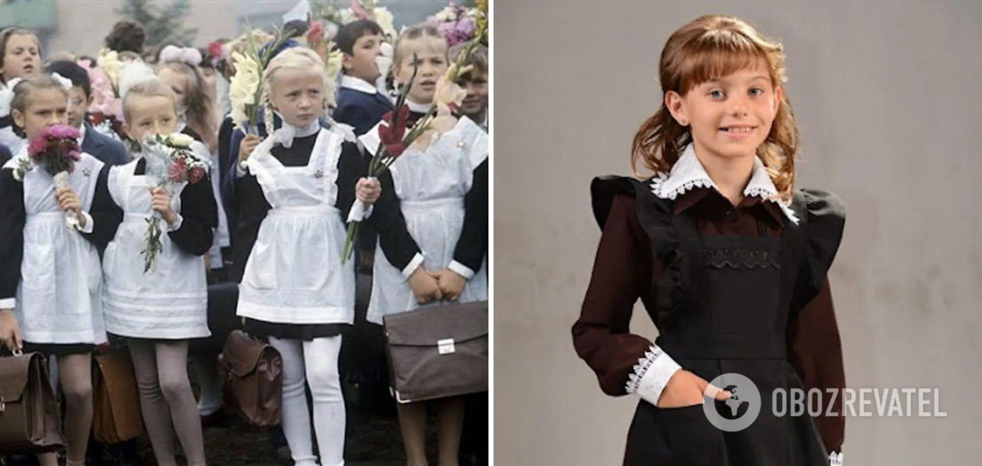 Все школьники в СССР были в одинаковых формах.