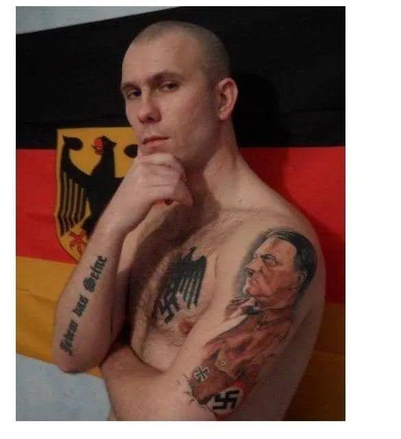 Татуировки российского неонациста Раевского