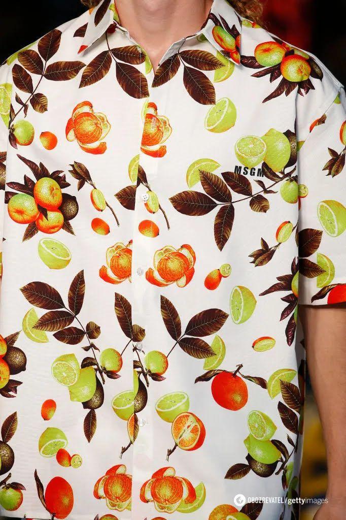 Рубашка с фруктовым принтом