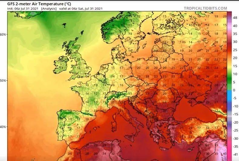 В Греции зафиксировали пять температурных рекордов