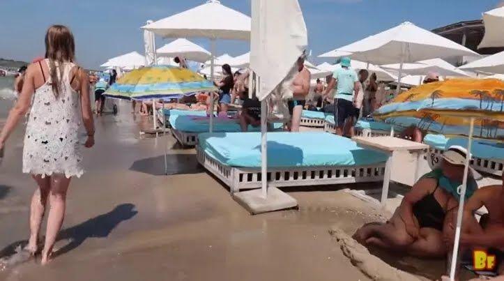 Наплыв туристов в Коблево