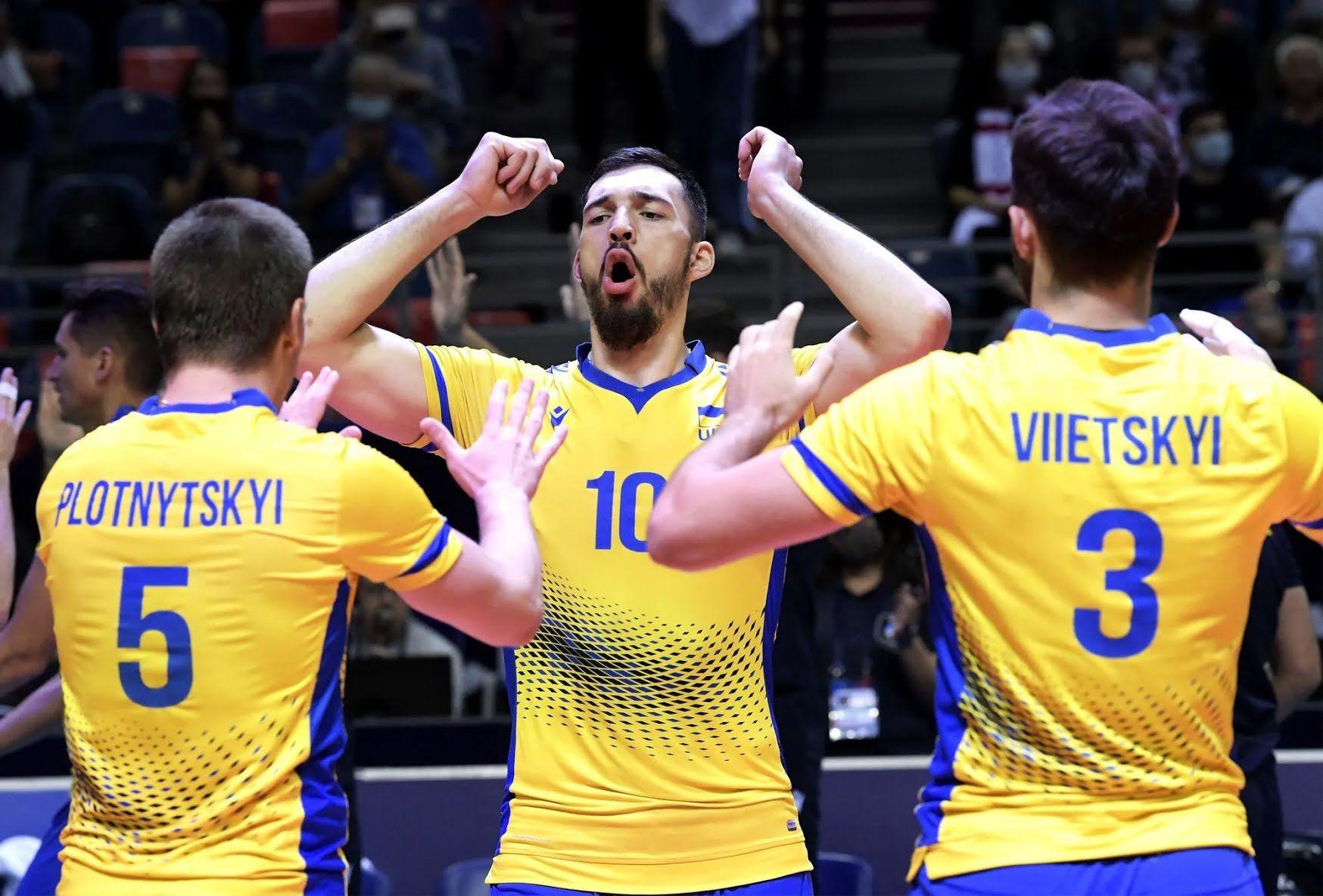 Сборная Украины по волейболу.
