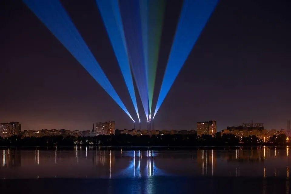 Световая арт-инсталляция в Днепре может стать крупнейшей в мире - Корбан