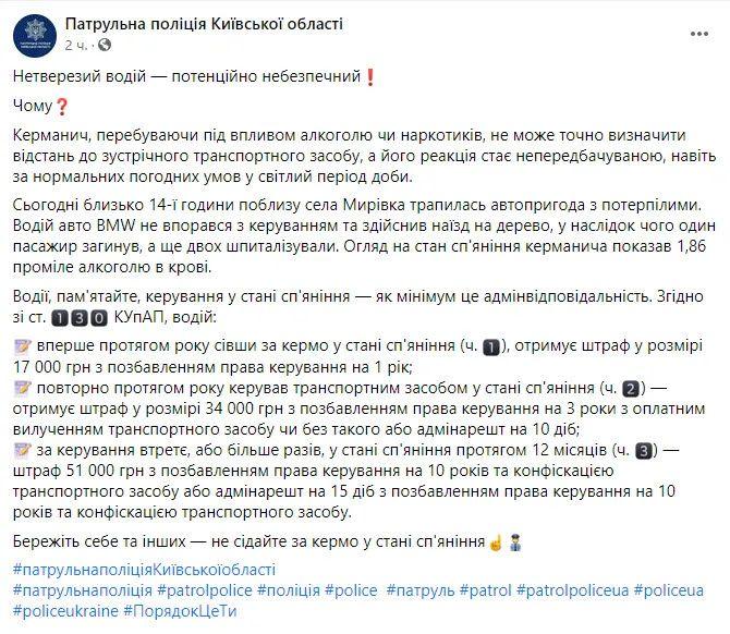 Пост Патрульной полиции Киевской области.