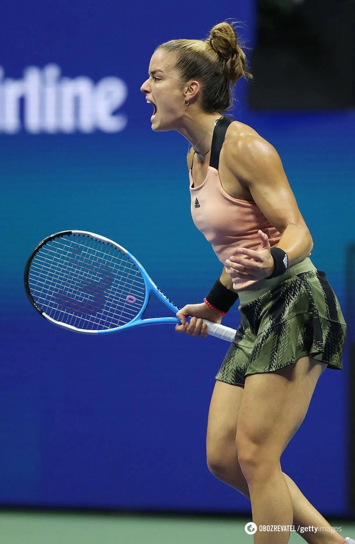 Марии Саккари пришлось менять юбку