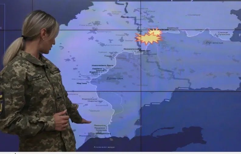 Места на карте, где произошел обстрел украинских позиций.