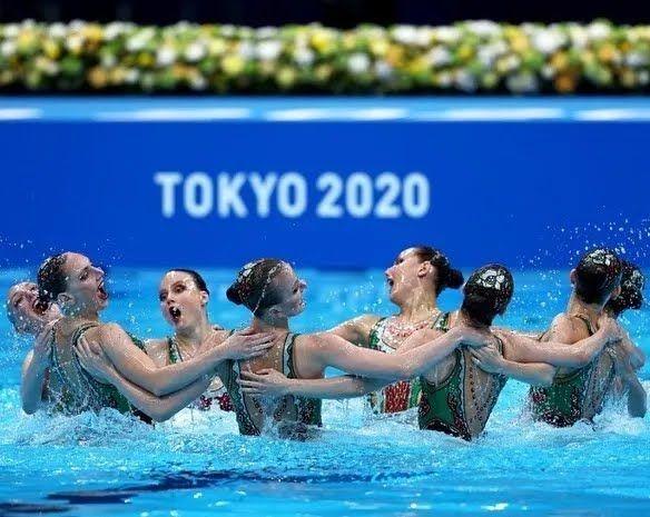 Марина Голядкина та її команда на ОІ-2020