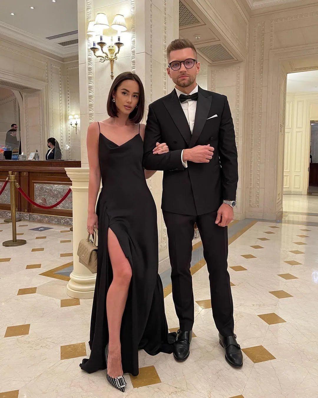 Таня Парфільєва з чоловіком на премії
