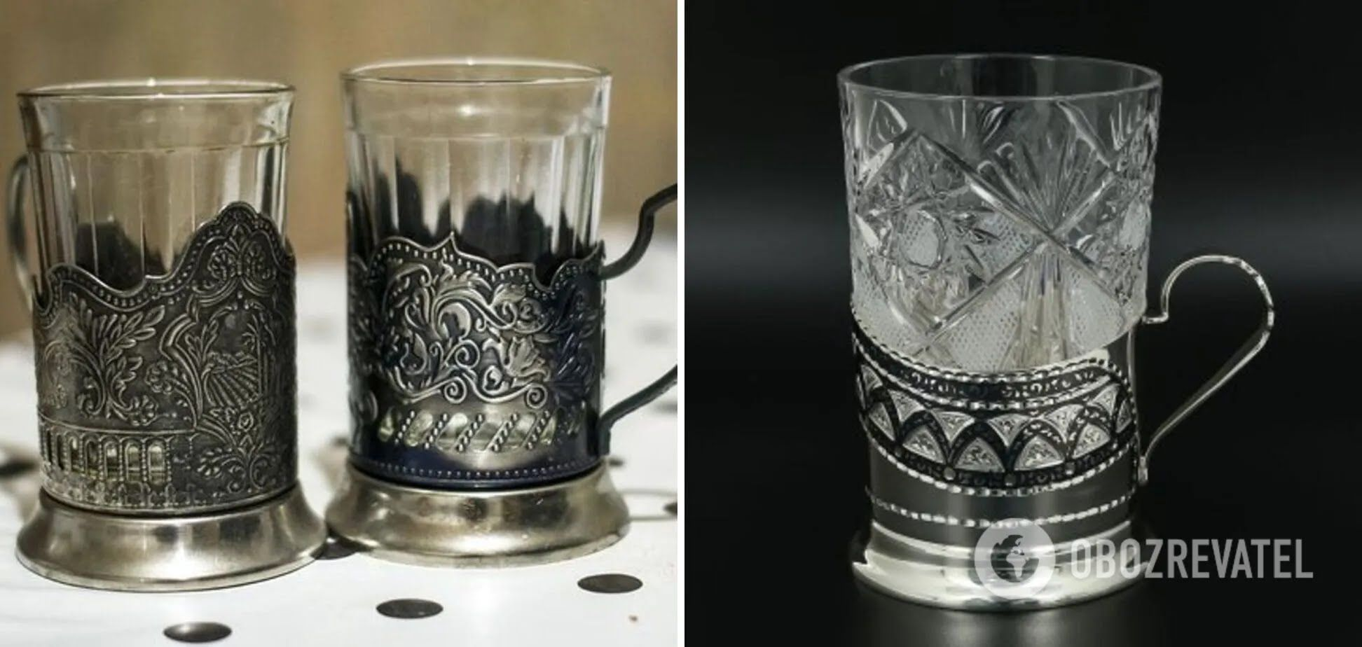 Срібні підставки для склянок стали раритетом