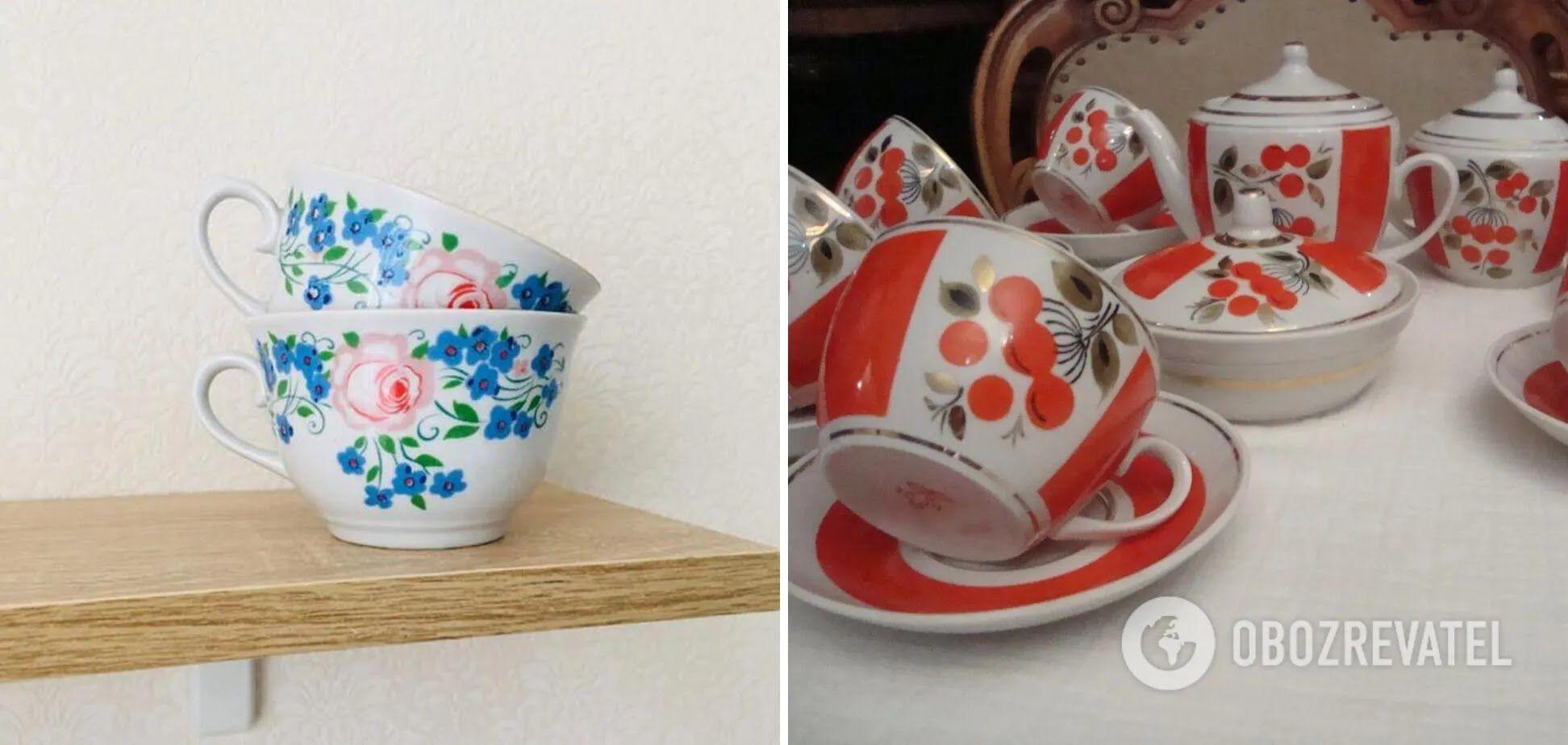 Фарфоровий посуд з розписом знову став популярним