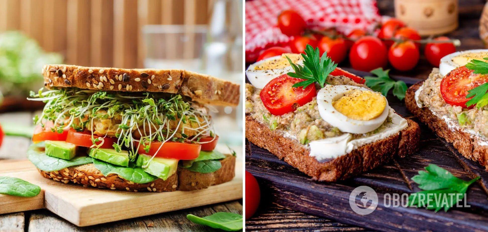 Сэндвич с тунцом и помидорами