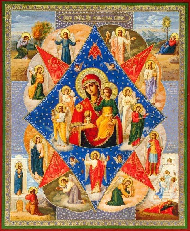 Терновий кущ, що не згорає, став прообразом Божої Матері