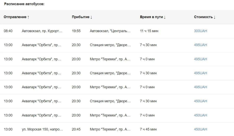 З Києва можна доїхати до Коблевого на автобусі