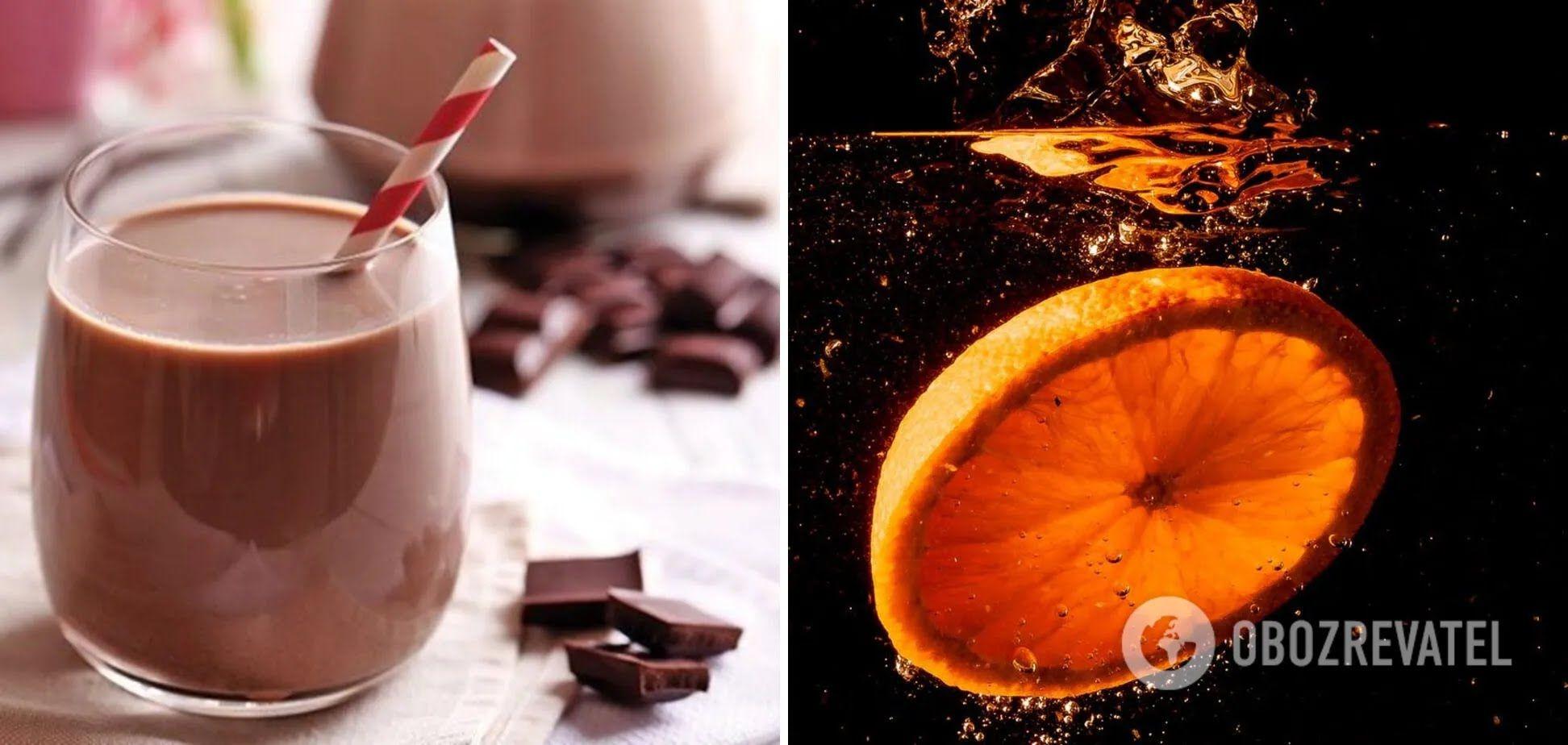 Какао з соком апельсина