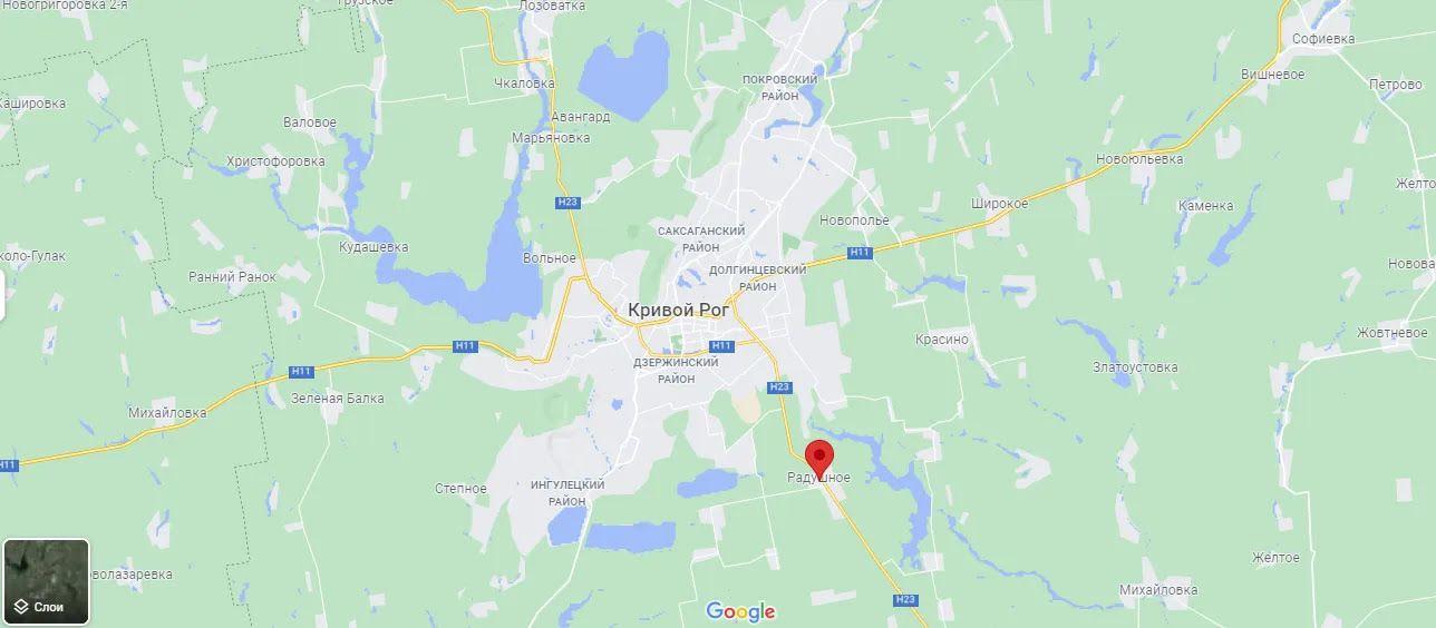 Радушное находится недалеко от города Кривой Рог