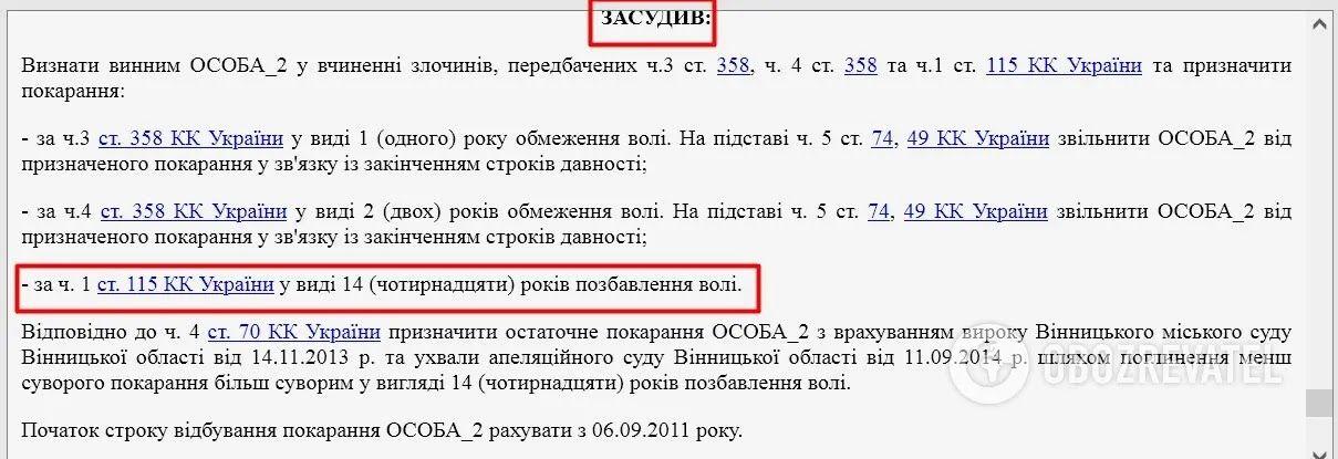 Рішення Вінницького міського суду.