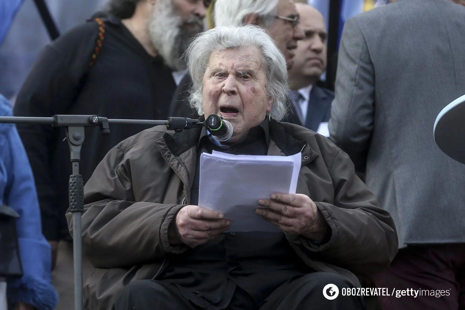 Микису Теодоракису было 96 лет