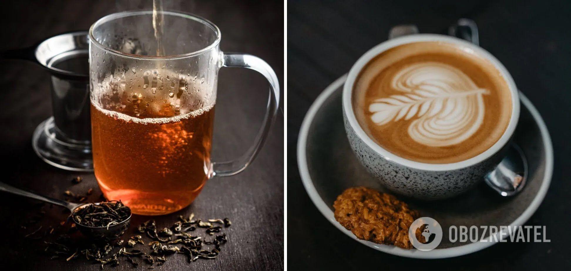 Горячие напитки, не стоит сочетать с пищей – чай и кофе