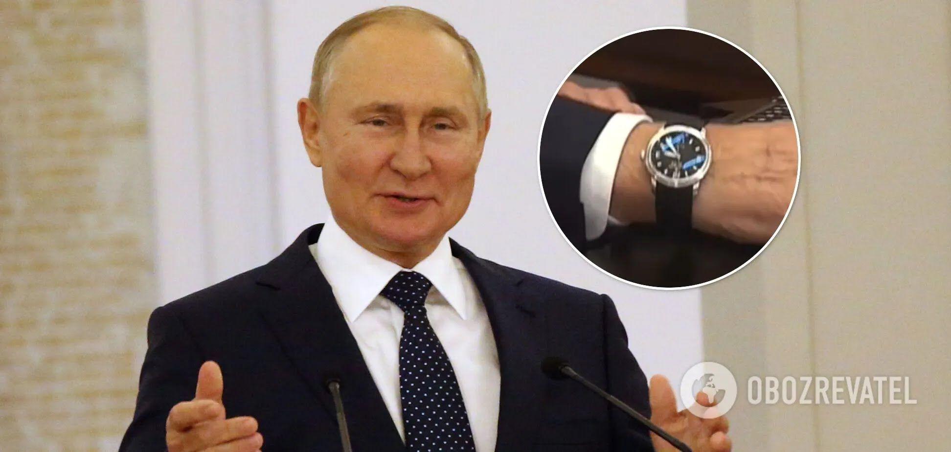 У Путіна помітили щось дивне на годиннику