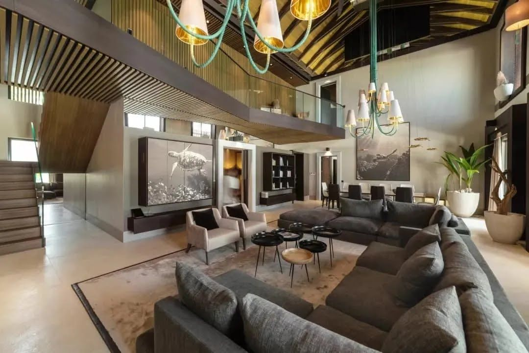 Большая гостиная в резиденции Vella