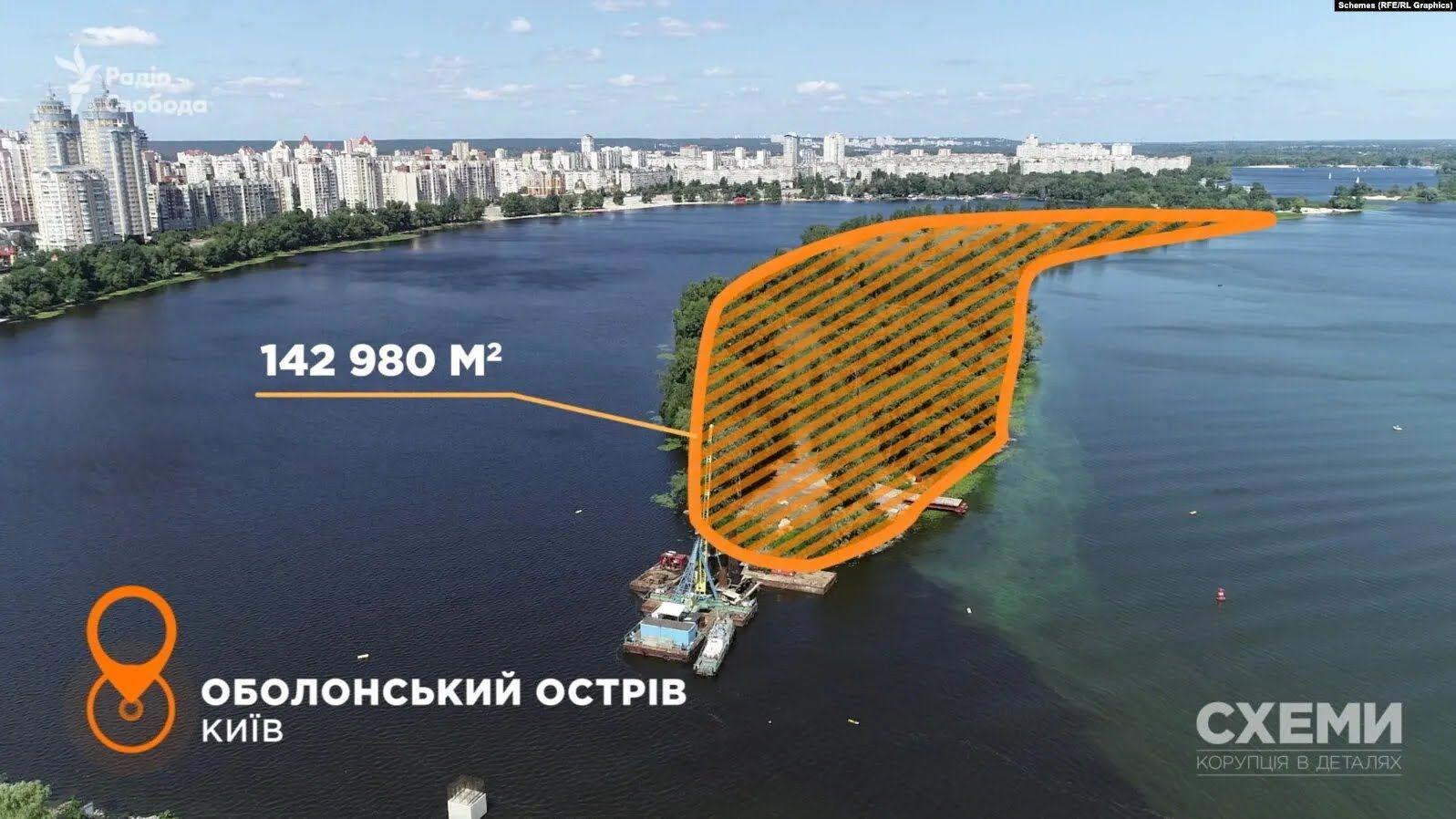 Остров на реке Днепр.