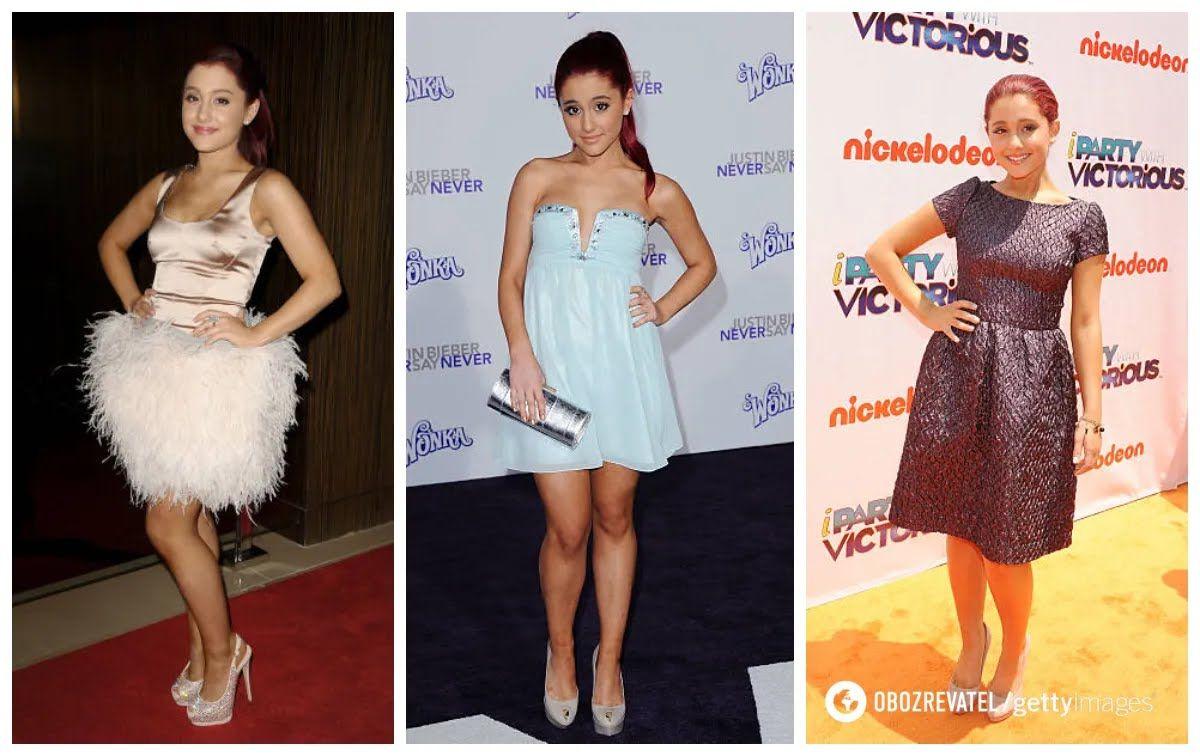 Аріана у сукнях в стилі baby-doll.