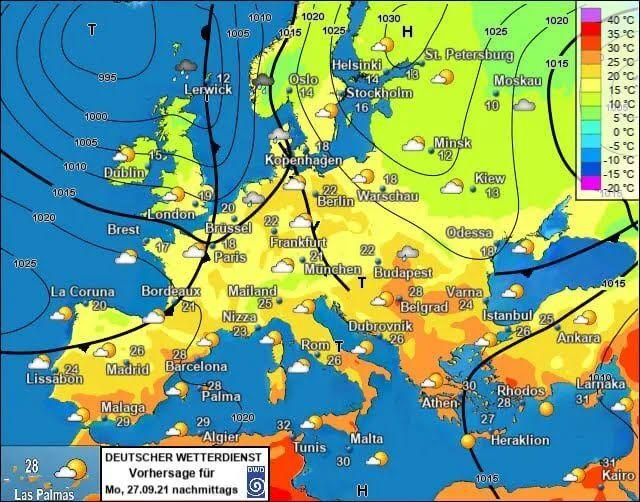 Погода в Україні 27 вересня.