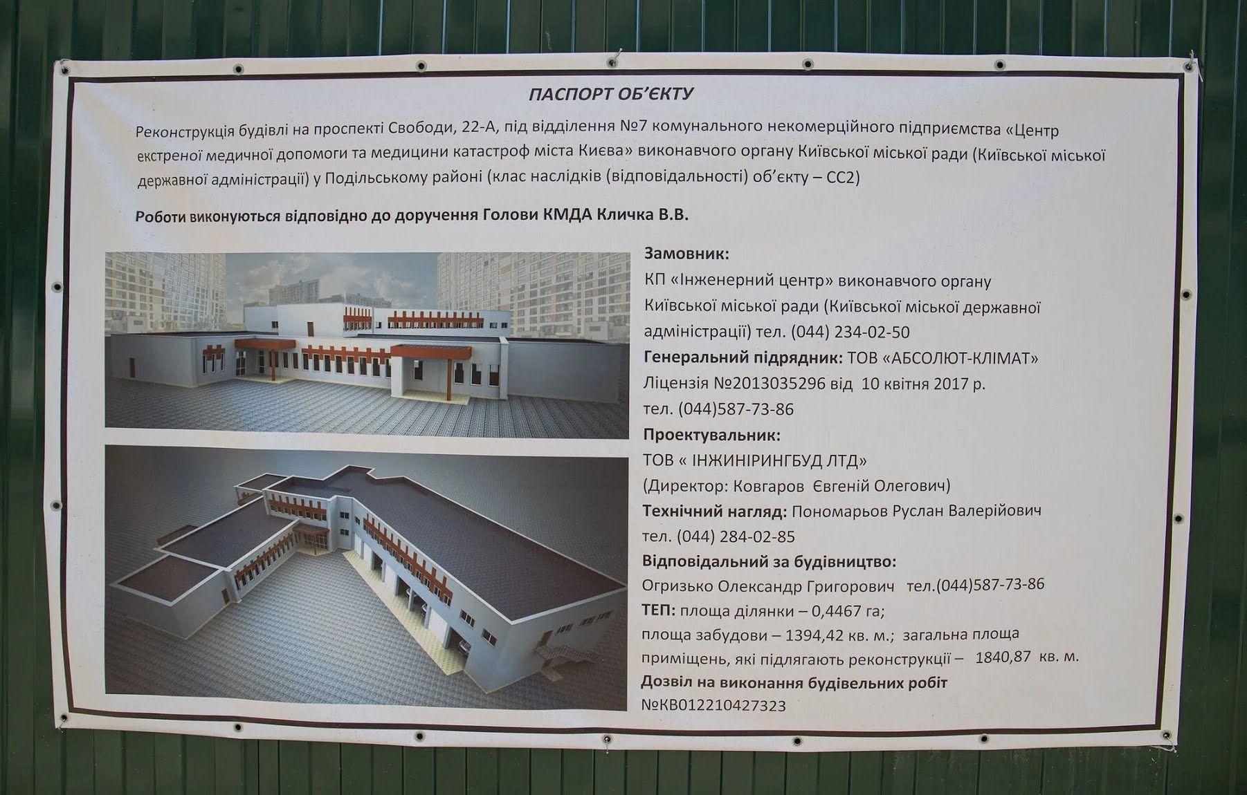 Центр екстреної медичної допомоги на Виноградарі буде одним з найбільших.
