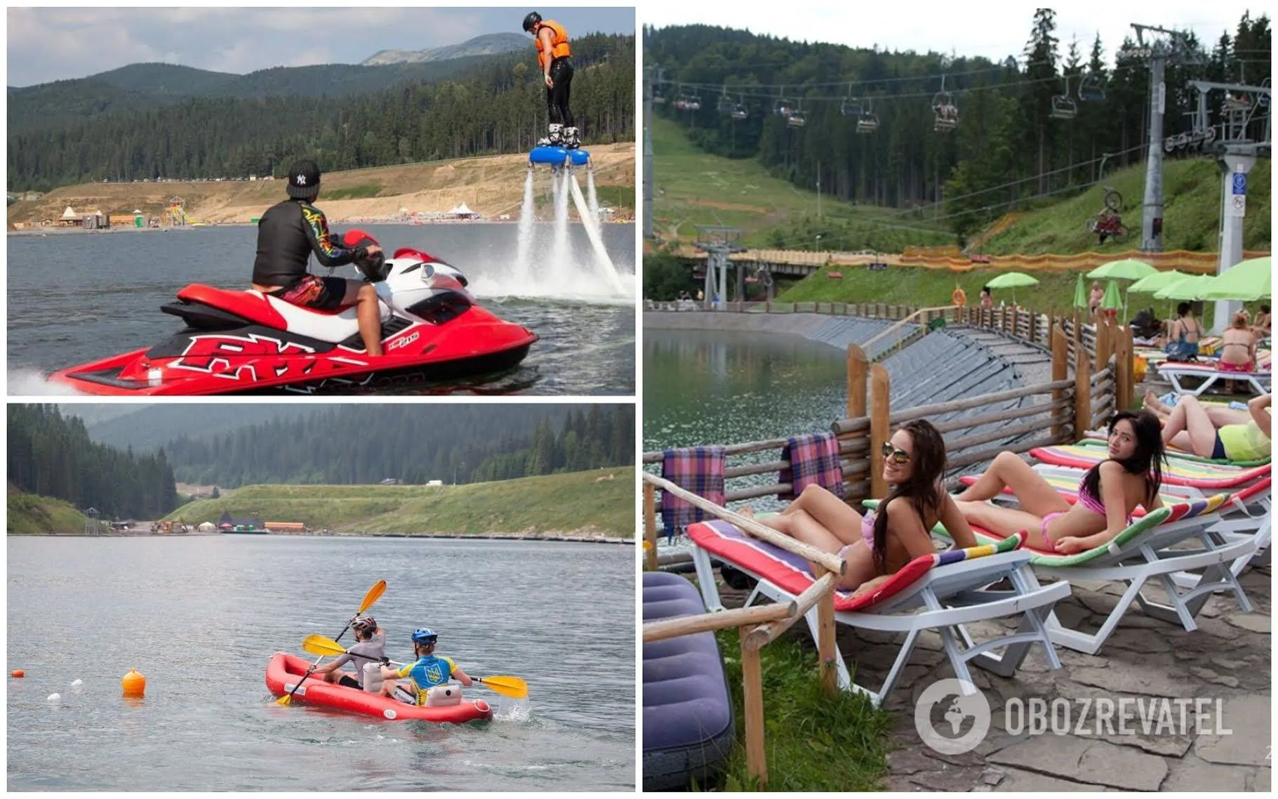 Озеро на курорті Буковель – найбільше штучне озеро в Україні