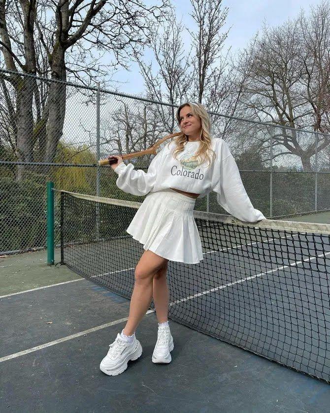 Модная теннисная юбка