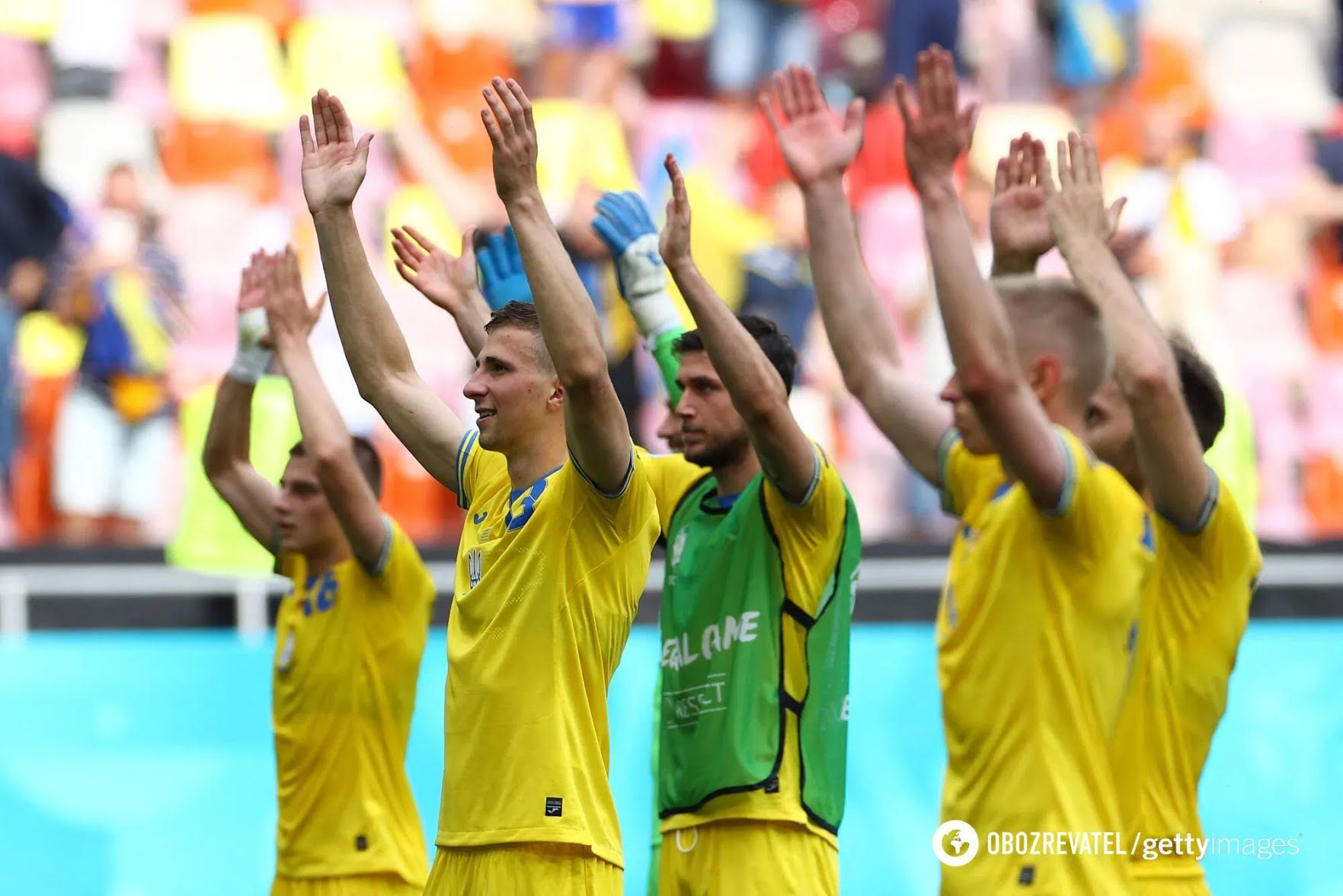 Українці святкують перемогу.