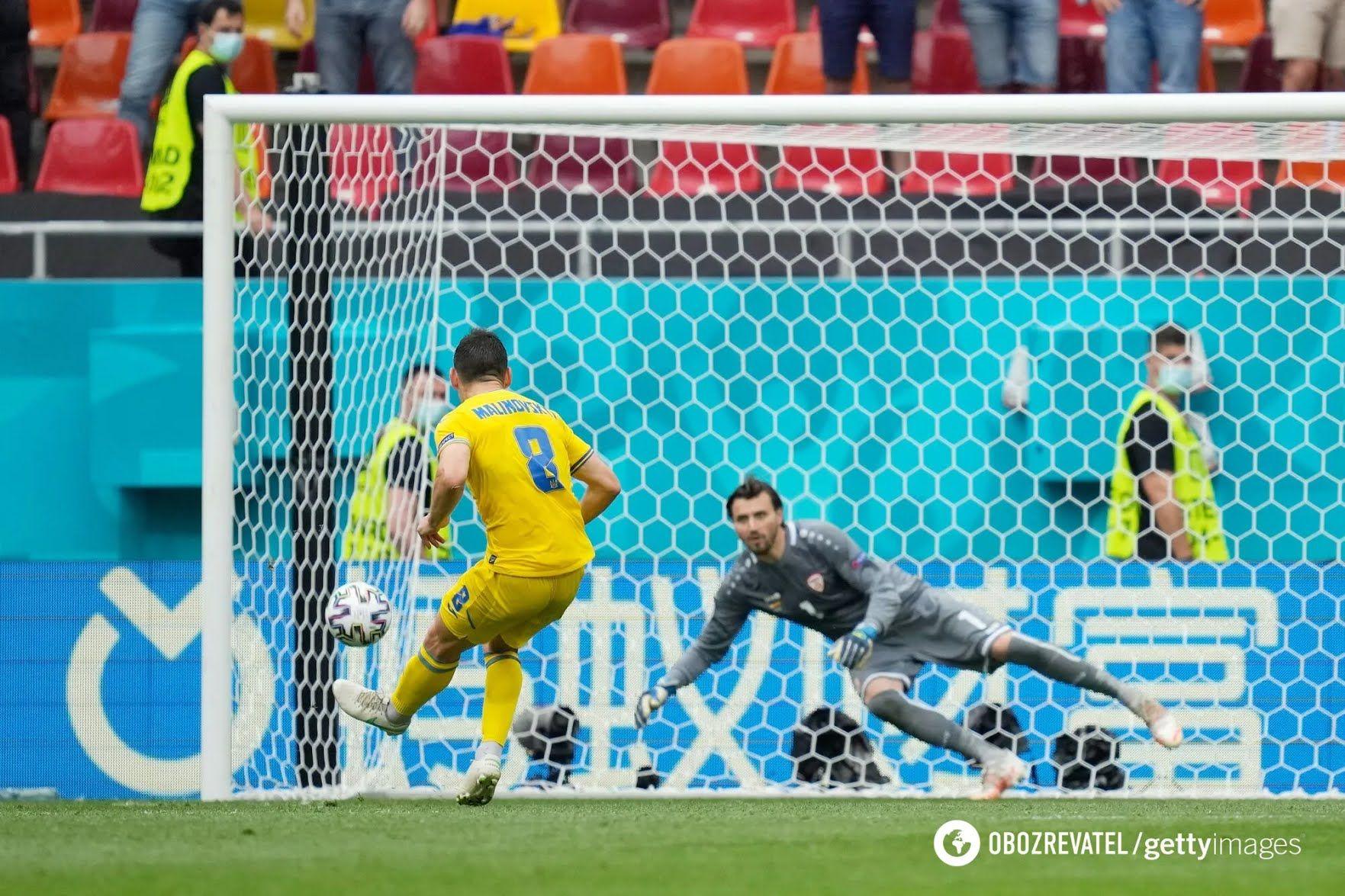 Руслан Малиновский не забил пенальти в ворота македонцев.