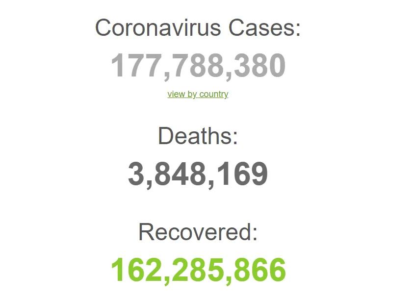 Коронавирусом болели 177 млн с начала пандемии.