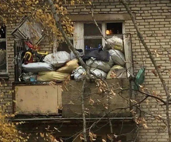 В СССР хранили лохмотье на балконе.